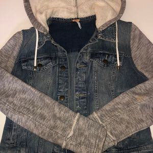 Free People Jean Jacket with sweater attachment